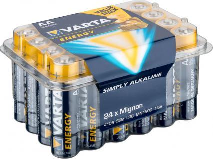 Varta® Batterie, (4106) Energy (Alkaline), LR6 (AA), Mignon, 1, 5V, 24er Box