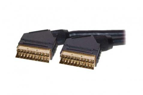 Anschlusskabel Scart Stecker an Stecker, vergoldete Kontakte, 2m, Good Connections®