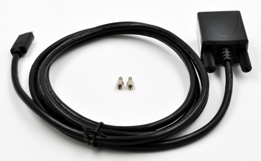 USB 2.0 (C) zu 1x Seriell RS-232 1, 8m Kabel mit 9 Pin Stecker, LED Anzeige, inkl. 2 Schraubenmuttern, (FTDI Chip-Set), Exsys® [EX-2311-2]