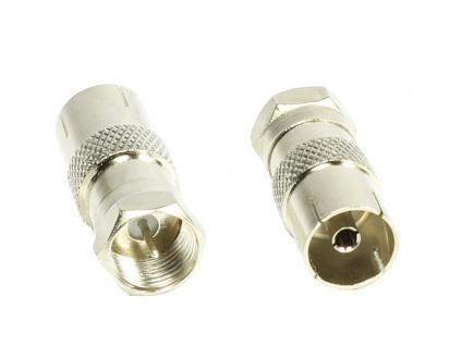 kabelmeister® Adapter, F-Stecker an Koax Buchse