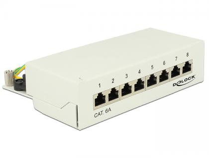 Desktop Patchpanel 8 Port Cat.6A grau, Delock® [87289]