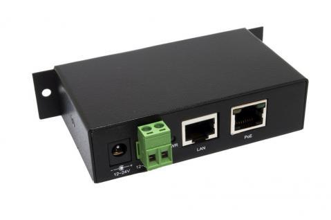PoE (Power over Ethernet) Gigabit Injektor, von 12V bis 24V Terminal Block, inkl. 12V/3A Netzteil, Exsys® [EX-6007PoE]
