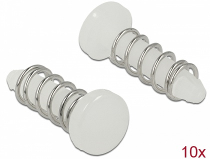 Schnappniete für Kühlkörper - Set 10 Stück, weiß, Delock® [18272]