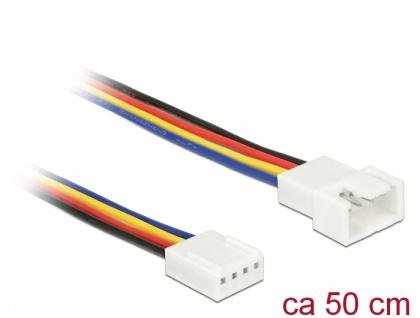 Verlängerungskabel PWM Lüfteranschluss 4 Pin, 0, 50 m, Delock® [85362]