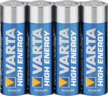 Varta® Batterie, High Energy (Alkaline), LR6 (AA), 1, 5V, 4er Pack in Folie