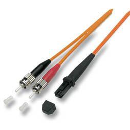 kabelmeister® Patchkabel LWL Duplex OS2 (Singlemode, 9/125) MT-RJ/ST, 15m
