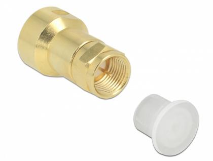 Staubschutz für F Stecker, 10 Stück, transparent, Delock® [60164]