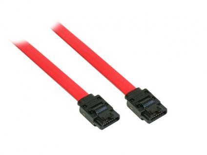 kabelmeister® SATA 6 Gb/s Anschlusskabel mit Metallclip, 0, 5m