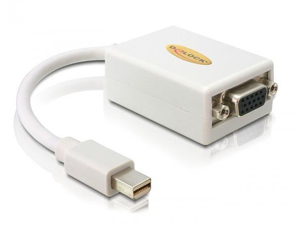 Adapter mini Displayport zu VGA 15 pin Buchse, Delock® [65130]