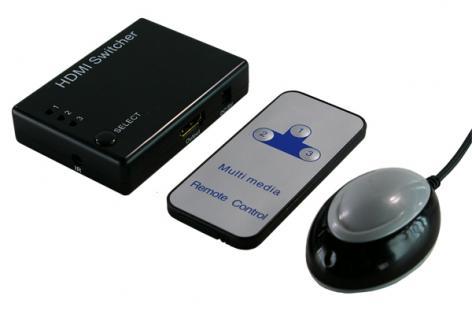LogiLink® Video Switch HDMI 3-Port mit Verstärker [HD0003]