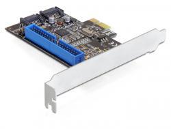 Schnittstellenkarte, PCI Express an 2x intern SATA 6 Gb/s + 1x intern IDE, Delock® [89293]