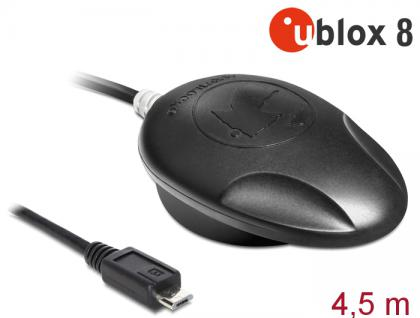 NL-8000U Micro USB 2.0 Multi GNSS Empfänger, u-blox 8, 4, 5m, Navilock® [62577] - Vorschau