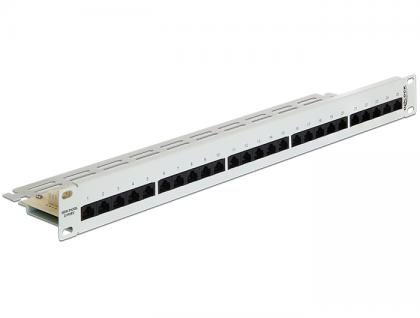 19' Patchpanel 25 Port Cat.3 ISDN grau, Delock® [43113]