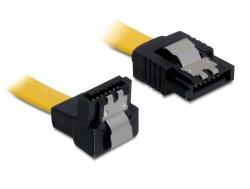 Kabel, SATA 6Gb/s, abgewinkelt, unten/gerade, Metall, 0, 1m, Delock® [82798] - Vorschau