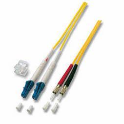 kabelmeister® Patchkabel LWL Duplex OS2 (Singlemode, 9/125) LC/DIN, 1m