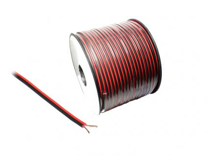 kabelmeister® Lautsprecherkabel 100m Spule, 2 x 2, 5 mm², rot/schwarz