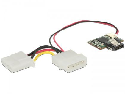 Delock SATA 6 Gb/s DOM Modul 64 GB MLC SATA Pin 8 Power -40 ____deg; C ~ 85 ____deg; C, Delock® [54808]