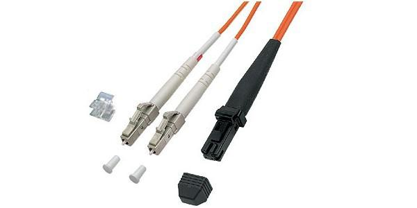 kabelmeister® Patchkabel LWL Duplex OM2 (Multimode, 50/125) LC/MT-RJ 1m