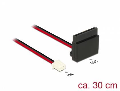 Kabel Power 2 Pin Buchse > 1 x SATA 15 Pin Buchse (5 V) Metallclip 30 cm , Delock® [85512]