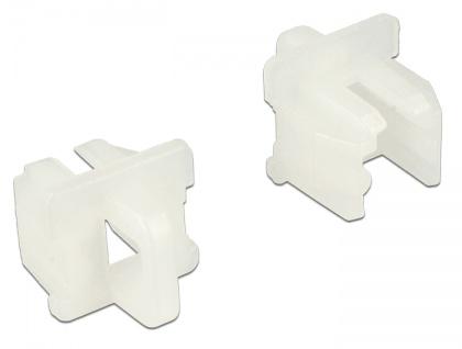 Staubschutz für RJ11 Buchse, mit Griff, 10 Stück, weiß, Delock® [64018]