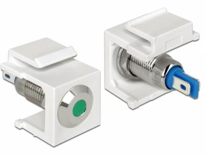 Keystone LED grün 6 V flach, weiß, Delock® [86435]