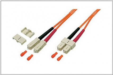 kabelmeister® Patchkabel LWL Duplex OM1 (Multimode, 62, 5/125) SC/SC, 62, 5/125 Länge: 2m