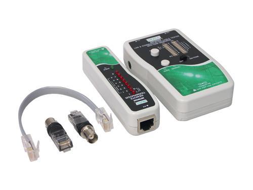 Kabeltester für Kabel mit RJ45, RJ12, RJ11 und BNC Stecker