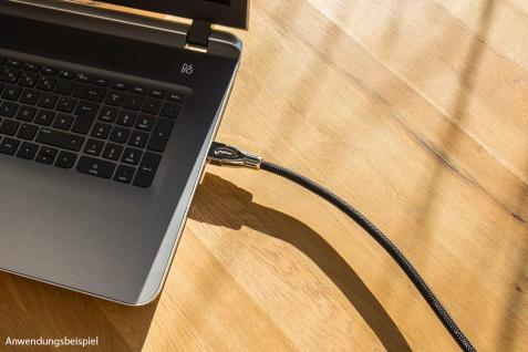 Anschlusskabel High-Speed-HDMI® mit Ethernet 4K2K / UHD, AKTIV (Redmere Chipsatz), OFC, Nylongeflecht schwarz, 25m, PYTHON® Series