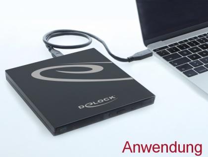 Externes Gehäuse für Ultra Slim SATA Laufwerke 9, 5 mm > USB Type-C™ Buchse, Delock® [42595]