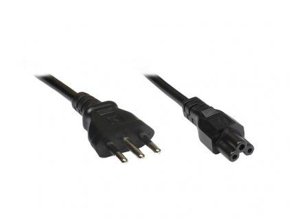 Netzkabel für NB Italien, Netzstecker an 3-pol Bu., 1, 8 m, Good Connections®