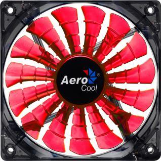 AeroCool® Shark Fan Evil Black Edition, 140mm x 140mm x 25mm, schwarz/orange [EN55482]
