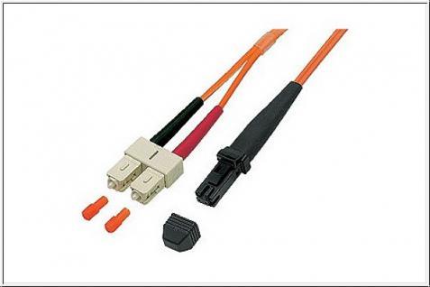 kabelmeister® Patchkabel LWL Duplex OM1 (Multimode, 62, 5/125) MT-RJ/SC, 1m