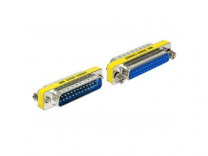 Adapter Sub-D 25 Pin Stecker an Sub-D 25 Pin Buchse, Portschoner, Delock® [65484]