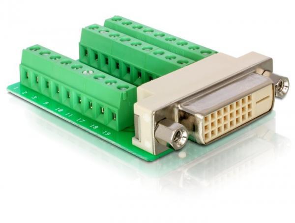 Adapter Terminalblock an DVI 24+1 Buchse, Delock® [65169]
