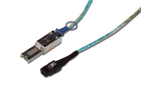 kabelmeister® Mini SAS 26-pin Stecker (SFF-8088) Mini SAS 36-pin Stecker (SFF-8087), 1m