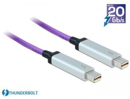Kabel Thunderbolt™ 2 optisch Stecker / Stecker 5 m violett, Delock® [83605]