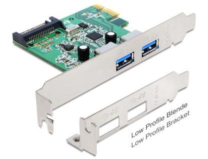 Schnnittstellenkarte PCI Express Karte , 2 x USB 3.0, Delock® [89356] - Vorschau