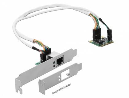 Mini PCIe I/O PCIe half size 1 x Gigabit LAN Low Profile, Delock® [95265]