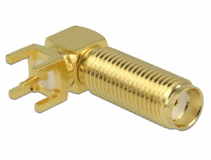 SMA Buchse 90____deg; PCB Gewindelänge 16 mm, Delock® [65848]
