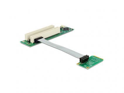 Schnittstellenkarte, Riser PCI Express Mini an 2x PCI 32Bit 5 V mit flexiblem Kabel 13 cm links gerichtet, Delock® [41355]