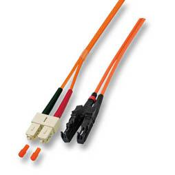 kabelmeister® Patchkabel LWL Duplex OM3 (Multimode, 50/125) E2000®/SC, 1m