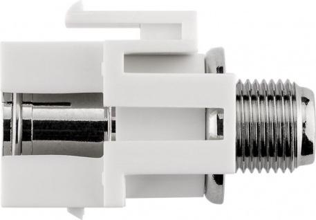 KeyStone Modul, Koax Buchse an F-Buchse, bündige Montage, Gehäuse weiß