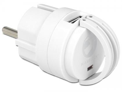 Netzteil AC > 2x USB A, 2, 1A, Navilock® [62516]