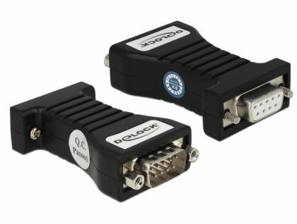 Isolator 1 x Seriell RS-232 DB9 Buchse zu 1 x Seriell RS-232 DB9 Stecker 3 kV, Delock® [63968]