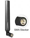 LTA Antenne SMA Band 1/2/3/4/7/9/10/13/14/17/20/25 1 ~ 4 dBi omnidirektional Gelenk schwarz, Delock ® [88451]