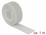Klett-Kabelbinder L 1 m x B 20 mm, Rolle, grau, Delock® [18278]