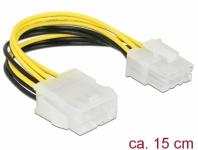 Verlängerungskabel Stromversorgung 8 Pin EPS Stecker an Buchse 0, 15 m, Delock® [85451]