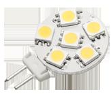 Power SMD-LED, 1, 2W, 12V, 50 lm, 3000K, (warmweiß), nicht dimmbar, A+, 120____deg; Abstrahlwinkel