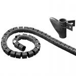 WireTube, robuster Spiralschlauch gegen den Kabelsalat, 2, 5m, schwarz