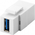 KeyStone Modul, USB 3.0 Buchse A an USB 3.0 Buchse A, Gehäuse weiß